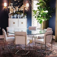 Friday Vibes   Our lucite dining table looks smashing in this dining room by…