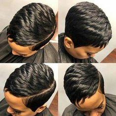 Fina 089 Pixie Boycuts Layered Super Short Straight Wig For Black Women Short Sassy Hair, Short Hair Wigs, Short Straight Hair, Cute Hairstyles For Short Hair, Pixie Hairstyles, Human Hair Wigs, Straight Hairstyles, Braided Hairstyles, Curly Hair Styles
