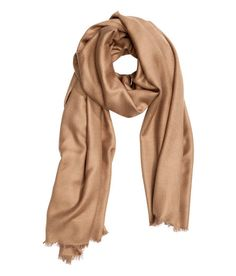 H&M | woven scarf-camel