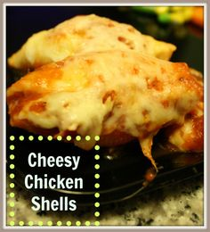 Easy Cheesy Chicken Shells are kid friendly and tasty. Simple to make and great as left overs. #chicken #pasta
