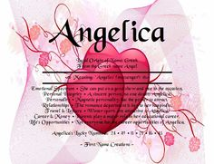 Angelica Name Meaning - First Name Creations