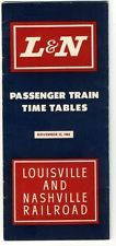 Nov 15 1964 L&N Louisville & Nashville Kentucky Tennessee PASSENGER TIME TABLES