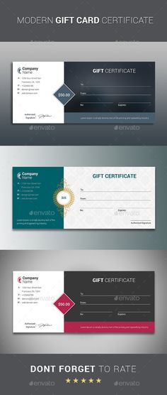 Buy Gift Certificate by themedevisers on GraphicRiver. Modern Gift Card Certificate This Gift Voucher Card is best suitable for promoting your business, product or service. Gift Certificate Template, Certificate Design, Gift Certificates, Gift Voucher Design, Cadeau Design, Certificate Of Appreciation, Appreciation Gifts, Congratulations Gift, Company Gifts