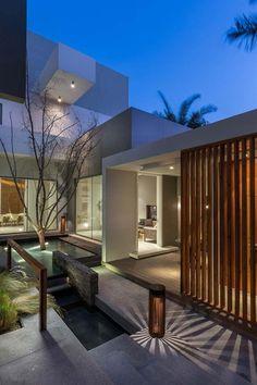 Contemporary three level home #architecture