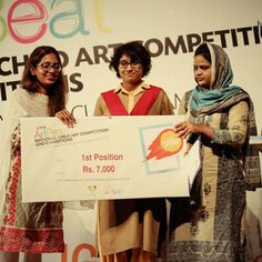 Winners received prizes at ArtBeat 2016 Islamabad Exhibition  Karachi Opening on 29th April  Visit for more details www.thelittleart.org  #Artbeat #children #Painting #Competition #Exhibitions #Pakistan #Tlaorg