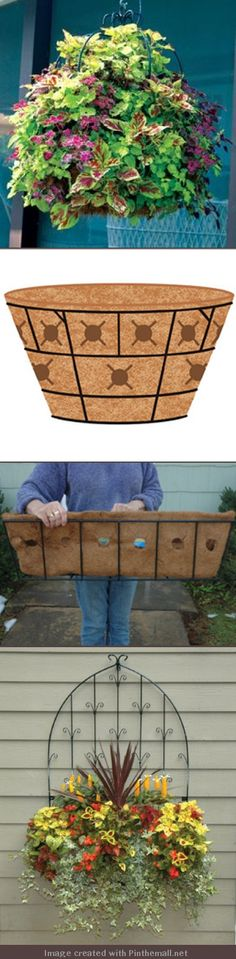 Want fuller container plantings? Cut holes in sides of liners and add more plants. Easy.