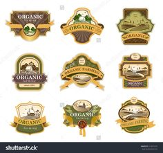 stock-vector-vector-lables-for-organic-farming-products-with-rural-landscapes-312071675.jpg (1500×1406)