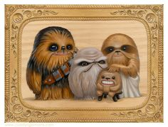 Wookie family portrait - Ahmagads.