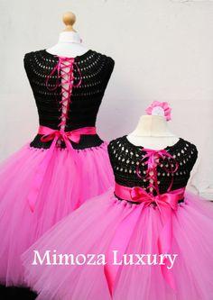 Mother Daughter Matching Dresses Adult tutu dress Birthday