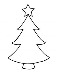 Green Christmas Tree Outline Clipart Kid 1026 On Black