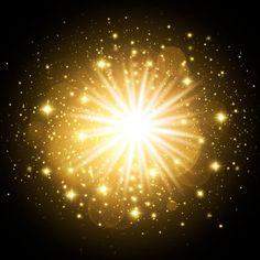 Golden sparkling frame on black background Vector Light Effect Photoshop, Sparkles Background, Sun Power, Vector Free Download, Animal Logo, Black Backgrounds, Bunt, Overlays, Sunrise