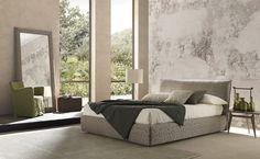 bedroom with a decorative wallpaper bolzan fair
