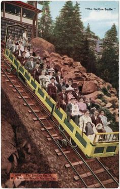 Manitou Incline ~ Manitou Springs Colorado ~ 1910