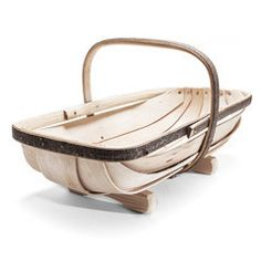 Sussex Garden Trug $129 Skilled craftsman shave strong, rot-resistant Sweet Chestnut wood and bend it to form the trug's handle and rims, which are nailed together to create the frame. Pliable Cricket Bat Willow is used to create lightweight boards for the base. Solid copper tacks fix the boards to the frame, and the trug's legs are attached using copper clout nails.
