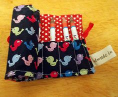 Check out this item in my Etsy shop https://www.etsy.com/uk/listing/239149076/multicoloured-bird-crayon-roll-pencil