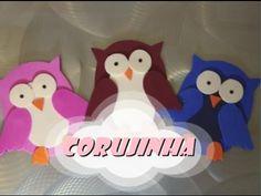 DIY.: Corujinha (simples) - E.V.A art - YouTube