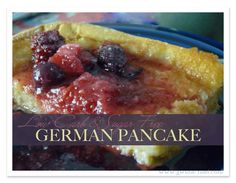 This low carb German Pancake recipe is the answer to my heart's cry for the perfect sugar free breakfast.   Finally…FINALLY I have perfected a THM version of my favorite breakfast dish.  If you've never had the pleasure of baking or enjoying a German or Finnish oven pancake, it's a real treat.
