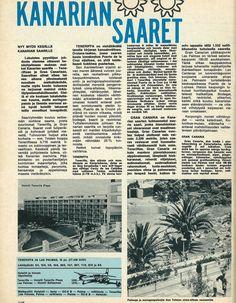 Kanariasaarten esite 60-luvulta