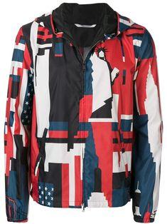 40f8755b81b71c Valentino New York print hooded jacket