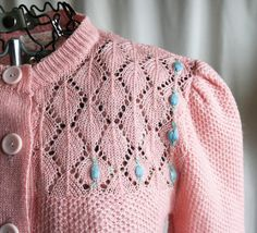 Blush and blossoms cardigan by AmericanThreadsShop on Etsy