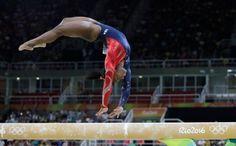 Simone Biles- Bronze Medalist Women's Balance Beam Rio 2016