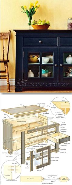 Glazed Sideboard Plans - Furniture Plans and Projects   WoodArchivist.com