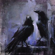 Park Ravens by Lindsey Kustusch Haunting. Intriguing. Mystifying. Rulers of the dark. These ravens have pizazz! They are absolutely amazing and the background... GENIUS! Read an interview with Lind...