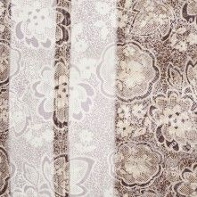 Brown and Beige Stretch Floral Lace
