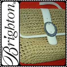 Brighton Straw Wristlet Brighton Straw Vintage Design, Can be a Clutch or Wristlet, Interior Lined with Zip Pocket, Magnetic Snap Closure on Flap, Size 8 inches x 7 inches, Mint Condition Brighton Bags Clutches & Wristlets
