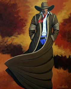 COWBOY DUST cowgirl and cowboy painting by Lance Headlee http://lance-headlee.artistwebsites.com/featured/cowboy-dust-lance-headlee.html see more Lance Headlee original western paintings at http://lanceheadlee.com/category/contemporary-western-collection/