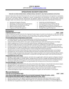 Military Contractor Sample Resume Assistance Dog Trainer Cover Letter  Security Operations Manager Supervisor Resumehtml