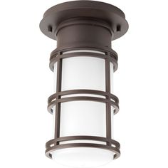 Bell Collection 1-light Antique Bronze LED Flushmount