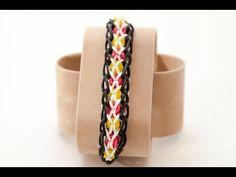 Wie erstelle ich ein Rainbow Loom Confetti Criss-Cross Armband | Rainbow Loom Anleitungen
