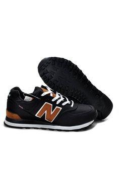 a25f509379 New Balance 574 Women Black Brown Shoes ML574PBK New Balance Walking Shoes