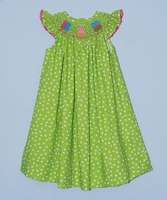 Another great find on #zulily! Green Ice Cream Bishop Dress - Infant, Toddler & Girls by Silly Goose #zulilyfinds