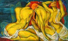 Three women. Lydia Velasco (artista filipina contemporánea).