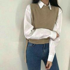 Korean Girl Fashion, Ulzzang Fashion, Korean Street Fashion, Asian Fashion, Look Fashion, 70s Fashion, Ladies Fashion, Winter Fashion, Vintage Fashion