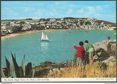 The Beach, Hugh Town, St Mary's, Isles of Scilly, c.1970s - John Hinde Postcard
