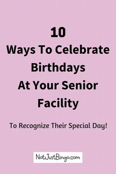 How do you celebrate the birthdays of the senior residents in your nursing home or assisted living facility? Click through to find fun birthday ideas that you can use to help celebrate your senior residents' birthday! Assisted Living Activities, Senior Assisted Living, Nursing Home Activities, Senior Living, Team Building Activities, Spring Activities, Craft Activities, Nursing Home Crafts, Enrichment Activities