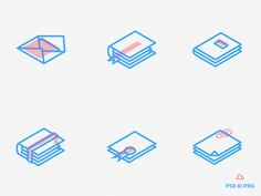 New Freebie! A Set of Isometric Line Icons available in color and black & white style! In the downloadable file you will font the photoshop, illustrator and png files. Enjoy & Share!  Downl...