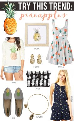 La Petite Fashionista- Try This Trend: Pineapples #AllPineappleEverything