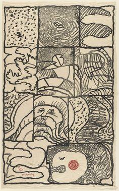 Pierre Alechinsky. Full Page (Pleine page). 1976