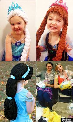 Mom Knits Disney Princess Wigs For Little Girls Battling Cancer — So Amazing