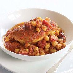 Spanish Chicken with Chickpeas & Chorizo - FineCooking