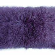 "Hot New Colors in Stock - 11"" x 22"" rectangle MONGOLIAN TIBETAN Lamb Pillows - Lavender"