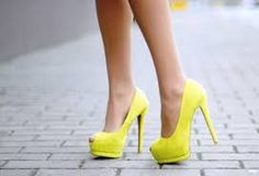 Who doesn't need yellow peep toes? Stilettos, Stiletto Heels, High Heels, Shoes Heels, Neon Shoes, Neon Pumps, Colored Shoes, Bright Shoes, Colorful Heels