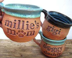 CUSTOM Pottery Mug Personalized Mug Dog Lovers Mug Dog