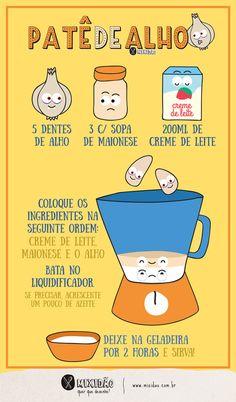 receita infográfico de patê de alho