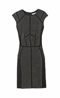 Nailhead Dress   Rebecca Taylor