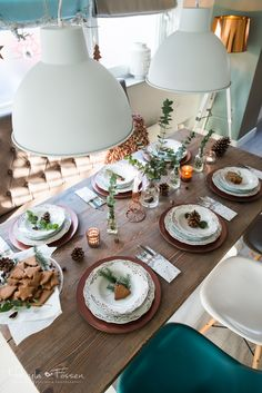 Addicted To Passion: Świąteczne dekoracje - stół Wigilijny - Miedź